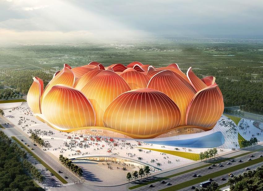 Лотос-гигант. В Китае начали строить 100-тысячный стадион
