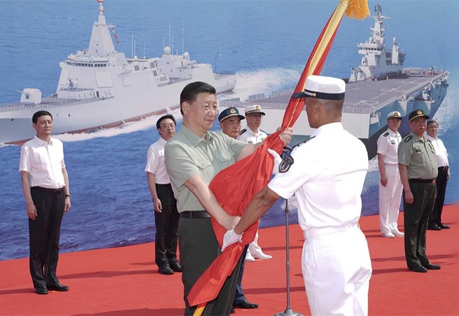 Си Цзиньпин присутствовал на церемонии передачи военных кораблей ВМС