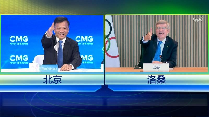 Медиакорпорация Китая и МОК провели переговоры в формате видеосвязи