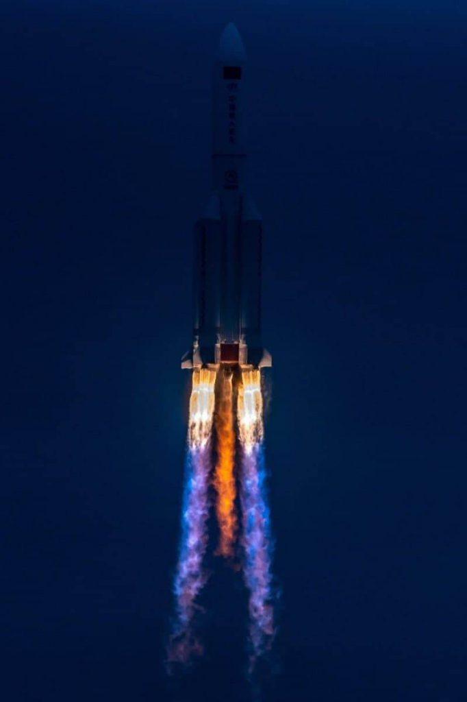 Большая часть элементов ракеты-носителя «Чанчжэн-7 Y3» сгорела в атмосфере