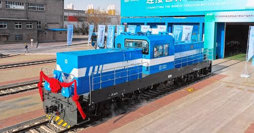 Китай представил первый гибридный локомотив на водородных топливных элементах