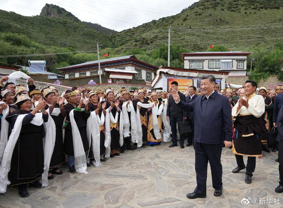Си Цзиньпин посетил город Линьчжи в Тибете