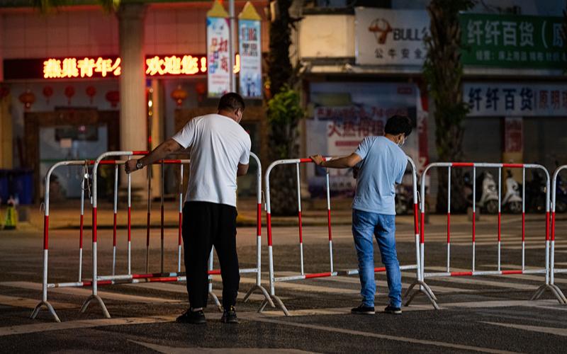 В основных районах г. Жуйли на юго-западе Китая введен режим управления закрытого типа