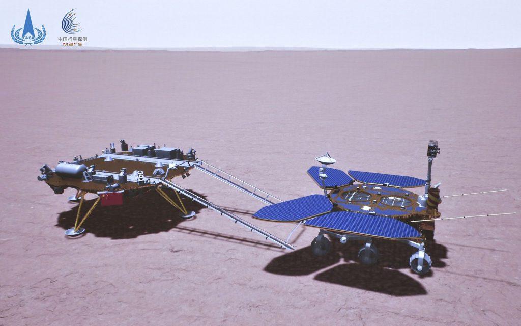 Китайский марсоход преодолел более 500 метров по поверхности Красной планеты