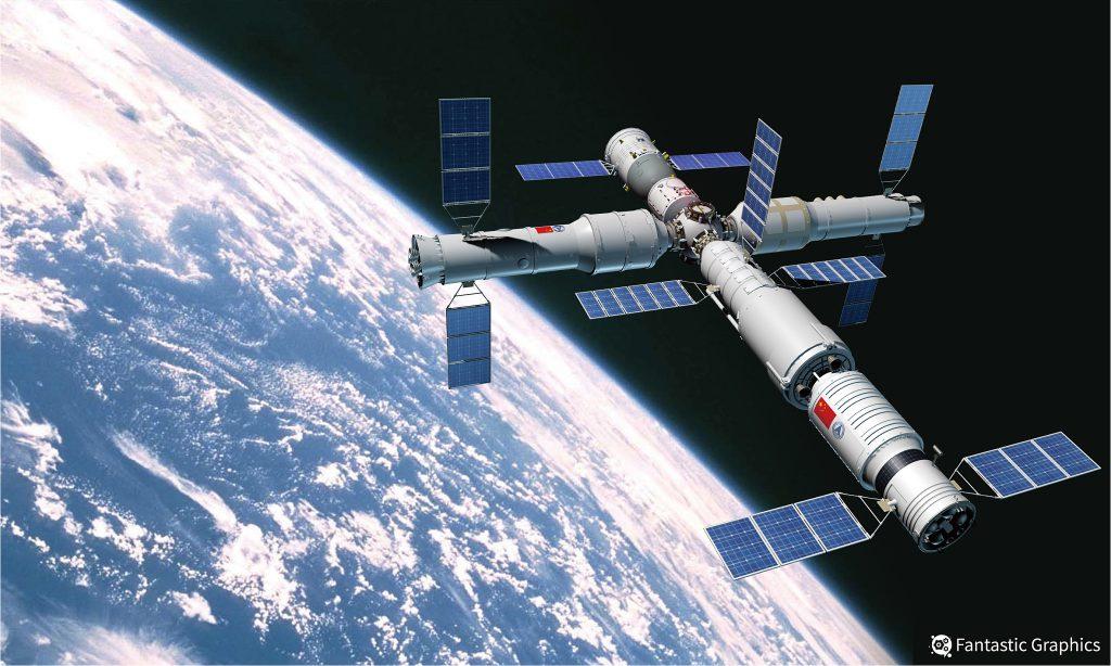 Китай разрабатывает проект космостанции в 10 раз больше МКС