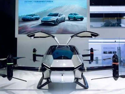Электролёт от китайской Tesla совершил полёт над городом
