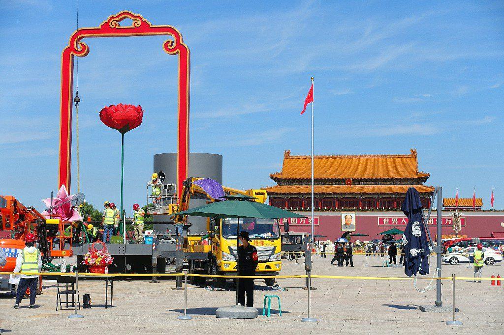 В преддверии Дня образования КНР на площади Тяньаньмэнь и вдоль проспекта Чанъаньцзе появятся цветочные композиции