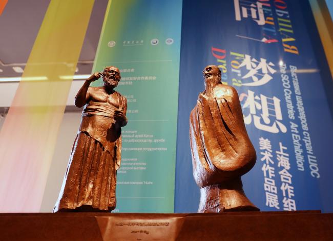 Выставка шедевров стран ШОС открылась в Национальном художественном музее Китая