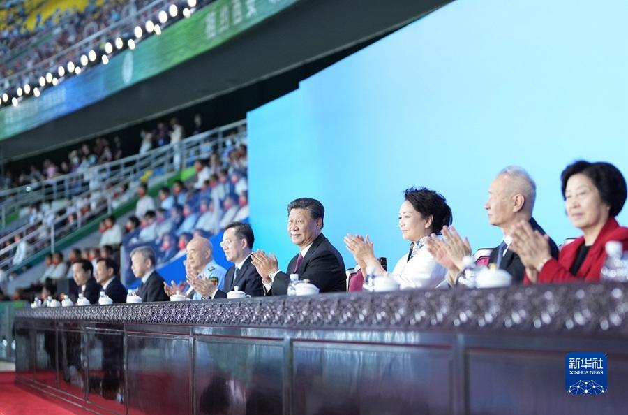 Председатель КНР Си Цзиньпин объявил XIV Национальные игры Китая открытыми